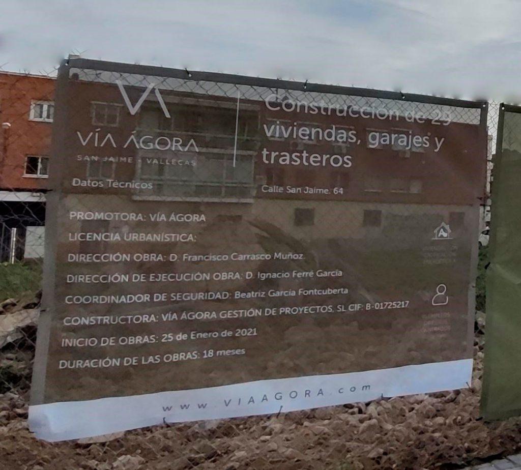 Cartel Obra San Jaime