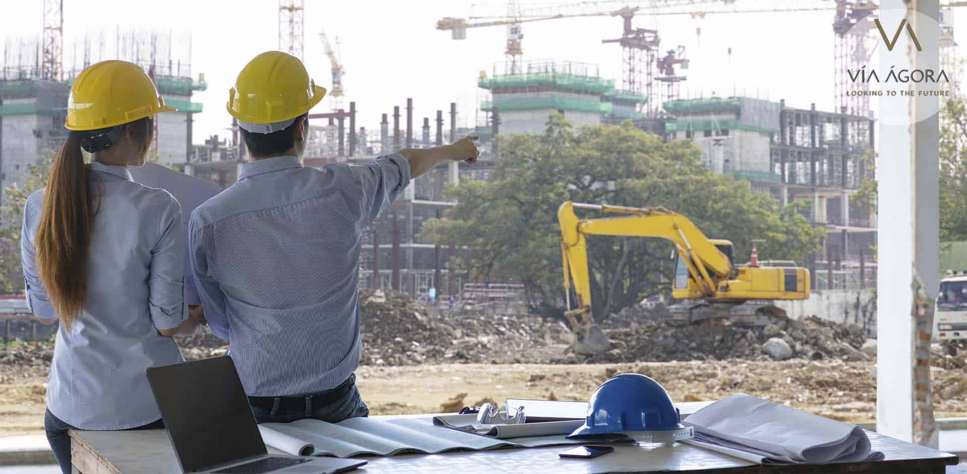 via agora - promotora inmobiliaria - cascos de construcción - 3